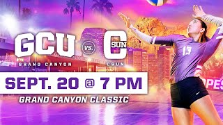 GCU Women's Volleyball vs CSUN September 20, 2019