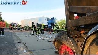 Lkw-Unfall auf der A1 zwischen Kreuz Stuhr und AS Groß Ippener
