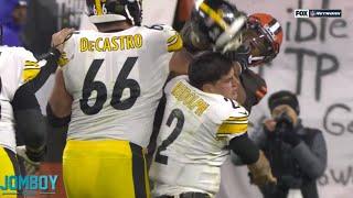 Myles Garrett hits Mason Rudolph in the head with his own helmet, a breakdown
