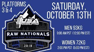 Saturday (Platforms 3&4) - 2018 USA Powerlifting Raw Nationals