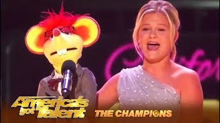 Darci Lynne: AGT Winner's FIGHTS For The World Title! WOW!   America's Got Talent: Champions