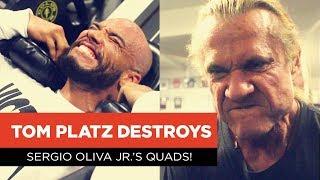 Tom Platz Destroys Sergio Oliva Jr.'s Quads!