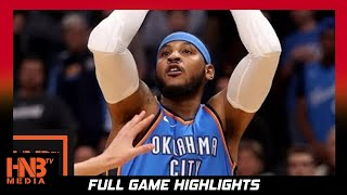 Oklahoma City Thunder vs New York Knicks Full Game Highlights / Week 1 / 2017 NBA Season