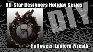 Halloween Lantern Wreath