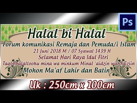 Download Thumbnail For Cara Desain Spanduk Halal Bi Halal Hari Raya