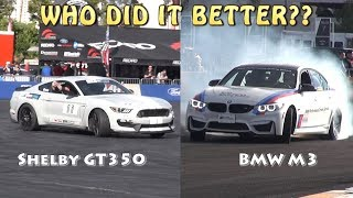 WHO DRIFTED BETTER - SHELBY GT350 or BMW M3??