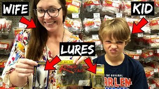 WIFE & KID Pick My Lures Fishing Challenge (They Picked WHAT???)