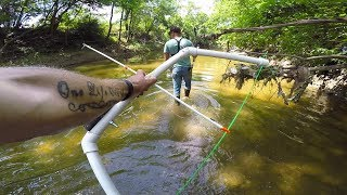 Man Uses Amazing Homemade PVC Pipe Bow for Bowfishing