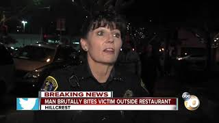 Restaurant employee bitten by a man in Hillcrest