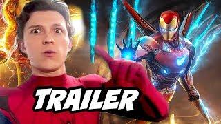 Spider-Man Far From Home Trailer 2 - Avengers Endgame Iron Man Easter Eggs Breakdown