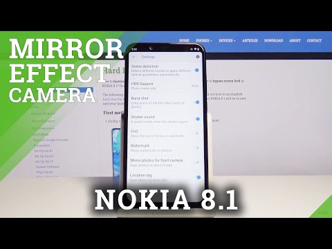 How to Turn On / Off Mirror Effect in Nokia 8.1 – Camera Options
