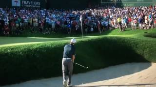 Jordan Spieth holes out on 1st Playoff hole to win 2017 Travelers Championship