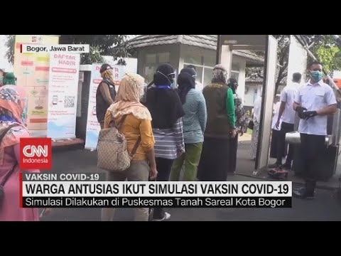 Warga Antusias Ikut Simulasi Vaksin Covid-19