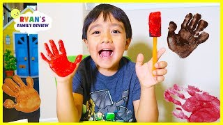 Finger painting for kids with Ryan's Family Review