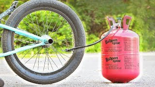 Filling a BMX TIRE with HELIUM!