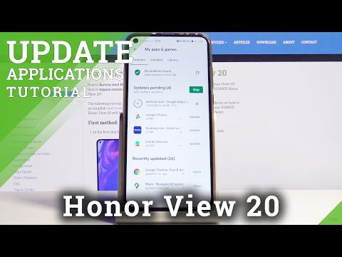 How to Update Apps in Honor View 20 - App Version