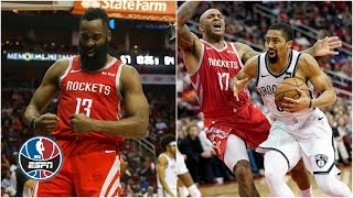 James Harden's 58-point game spoiled by Spencer Dinwiddie, Nets | NBA Highlights