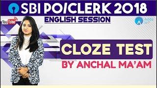 SBI PO/CLERK | Cloze Test | English | Anchal Ma'am