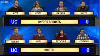 University Challenge S44E30 Oxford Brookes vs Bristol