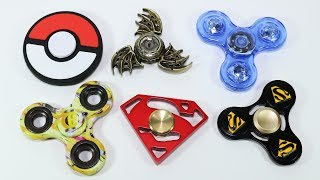 Very Rare Fidget Spinners! Superman, Pokemon, Game of Thrones Hand Spinners!