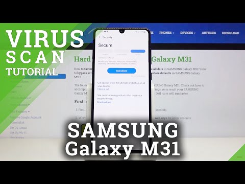 How to Virus Scan in SAMSUNG Galaxy M31 – System Scan