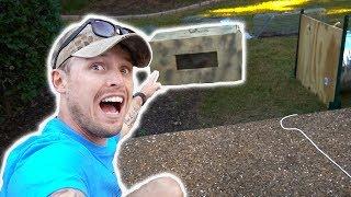 Using My HOMEMADE RACCOON TRAP!! - (FAIL)