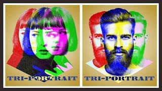 Photoshop: How to Create a Tri-Portrait Poster Design of Your Face.