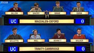 University Challenge S44E28 Magdalen College Oxford vs Trinity College Cambridge
