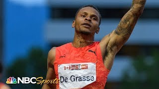 De Grasse Comes From Behind to Take Diamond League 200m   NBC Sports