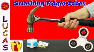 What's Inside a Fidget Cube? Fidget Cube Review! Hand Fidgetz and Fidget Spinner Hot Toys Smashing
