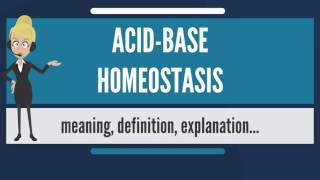 What is ACID-BASE HOMEOSTASIS? What does ACID-BASE HOMEOSTASIS mean? ACID-BASE HOMEOSTASIS meaning