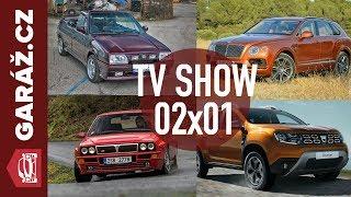 GARÁŽ.cz 02x01 - Lancia Delta Integrale, Škoda Favorit, Dacia Duster a Bentley Bentayga