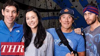 Alex Honnold & Jared Leto Rock Wall Photoshoot with 'Free Solo' Co-Director Jimmy Chin   THR