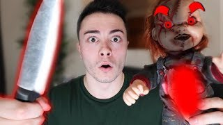 CUTTING OPEN EVIL CHUCKY DOLL AT 3 AM!! (WHAT'S INSIDE EVIL CHUCKY DOLL!)