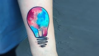 Most Creative Light Bulb Tattoo Designs And Ideas