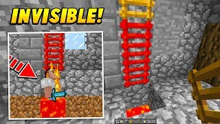 I Used an INVISIBLE Ladder To Trap Players In Lava.. (Minecraft TROLLING)