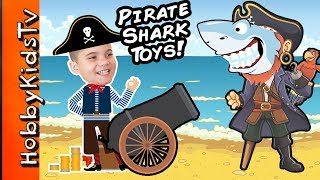 Giant PIRATE SHARK Egg! We Review Imaginext Toys with HobbyKids