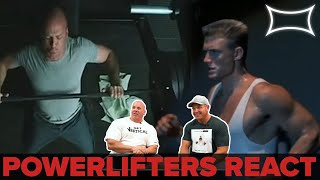 Professional Powerlifters React to Lifting Scenes in Hollywood 2
