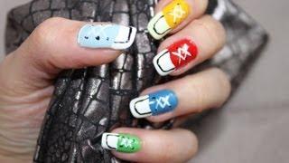 Piękne paznokcie - Jak malować - Trampki:)