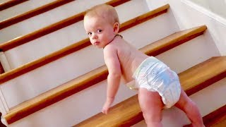 BABY CAUGHT CLIMBING STAIRS! 😱