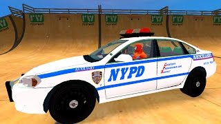 Police Cars Cartoon with Spiderman and New Nursery Rhymes Songs for Kids