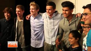 New boy band, Hollintown, performs positive pop