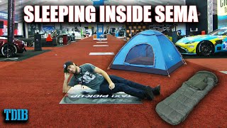 I Slept Overnight Inside the SEMA Auto Show! (And Didn't Get Caught)