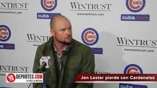 Jon Lester no pudo con los Cardenales