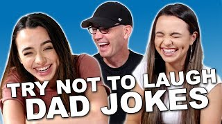 Try Not To Laugh Challenge Dad Jokes - Merrell Twins