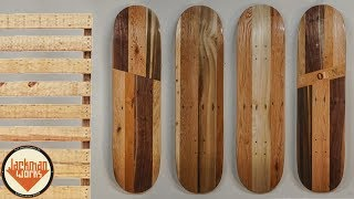 Skateboards made out of Pallet Wood