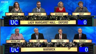 University Challenge - Christmas 2014 E01 Lady Margaret Hall, Oxford vs The University of Warwick