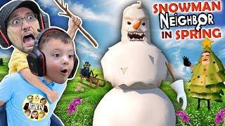HELLO NEIGHBOR CHRISTMAS MOD! Snowmen in APRIL? Amazing Frog Teleport (FGTEEV Duddz & Shawn)
