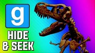 Gmod Hide and Seek Funny Moments - Dinosaur Museum, Peeking Game, Delirious's Closet (Garry's Mod)