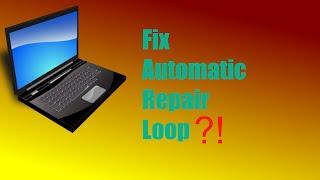 How to FIX windows 8 automatic repair loop!!
